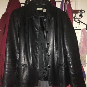 1990's Ann Taylor extremely soft leather jacket.